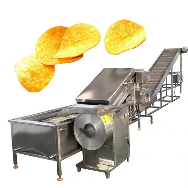 Automatic Kitchen Equipment Commercial Gas Frying Machine for Potato Chips Nuts Beans #3 image